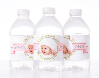 Baby Shower Decoration - 25 Baby Shower Water Bottle Labels, Birthday, etc - Waterproof and self stick