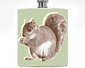 Mens Flask Squirrel Drinking Gifts Womens Guys Gift Hunting Birthday Funny Flask Pocket Hunting Animal Outdoor Cute Hip Flask Manly Man