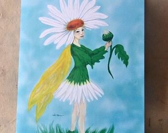 Daisy Flower Fairy - Greeting Card - Eco-Friendly - Birthday Card - Faerie Lover Card