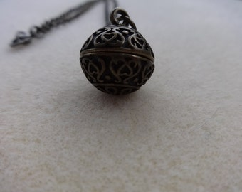 Vintage brass chain with amulet