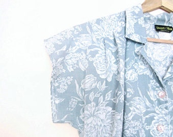 Mint and White Flower Vintage Dress