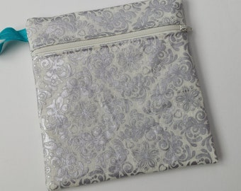 New Hot Print Wet bag: Silver Damask
