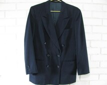 Boy's navy double breasted suit coat size 8 or ladies size M