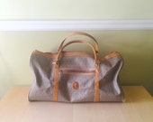 Vintage Yves Saint Laurent Luggage Travel Bag YSL Logo