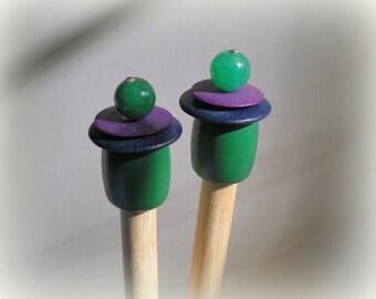 Wooden Knitting Needles - Size US 15