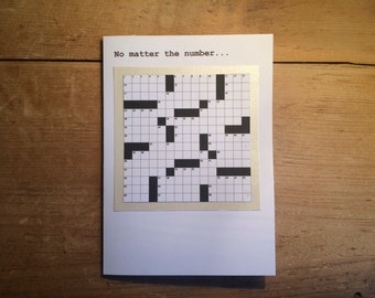 Crossword Puzzle Anniversary Card for Significant Other - White Pearl