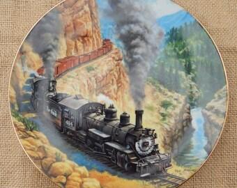 Above The Canyon Collectors Plate  ~  1991 The Hamilton Collection  ~  Above The Canyon From The Golden Age of American Railroads