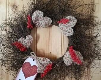 Sweet Heart Twig Wreath