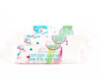 Cotton Candy Dreaming Lip Balm - All Natural - Sweet Sugar Fruit Candy