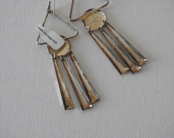 80s Triangle Dangle Earrings
