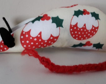 Christmas Catnip Mouse -  Christmas Pudding design - Made with Extra Strong Catnip