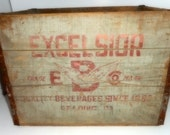 Wooden Crate, Drink Box ,Vintage Wooden Soda Box, Storage Container