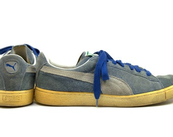 80s Puma CLYDE Suede Leather Skater Lace Up Tennis Shoes Sneakers size 10