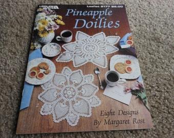 Pineapple Doilies crochet pattern book by Margaret Rost