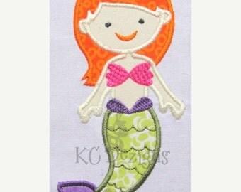 50% OFF SALE Mystical Mermaid 04 Machine Embroidery Applique Design - 5x7 & 6x8