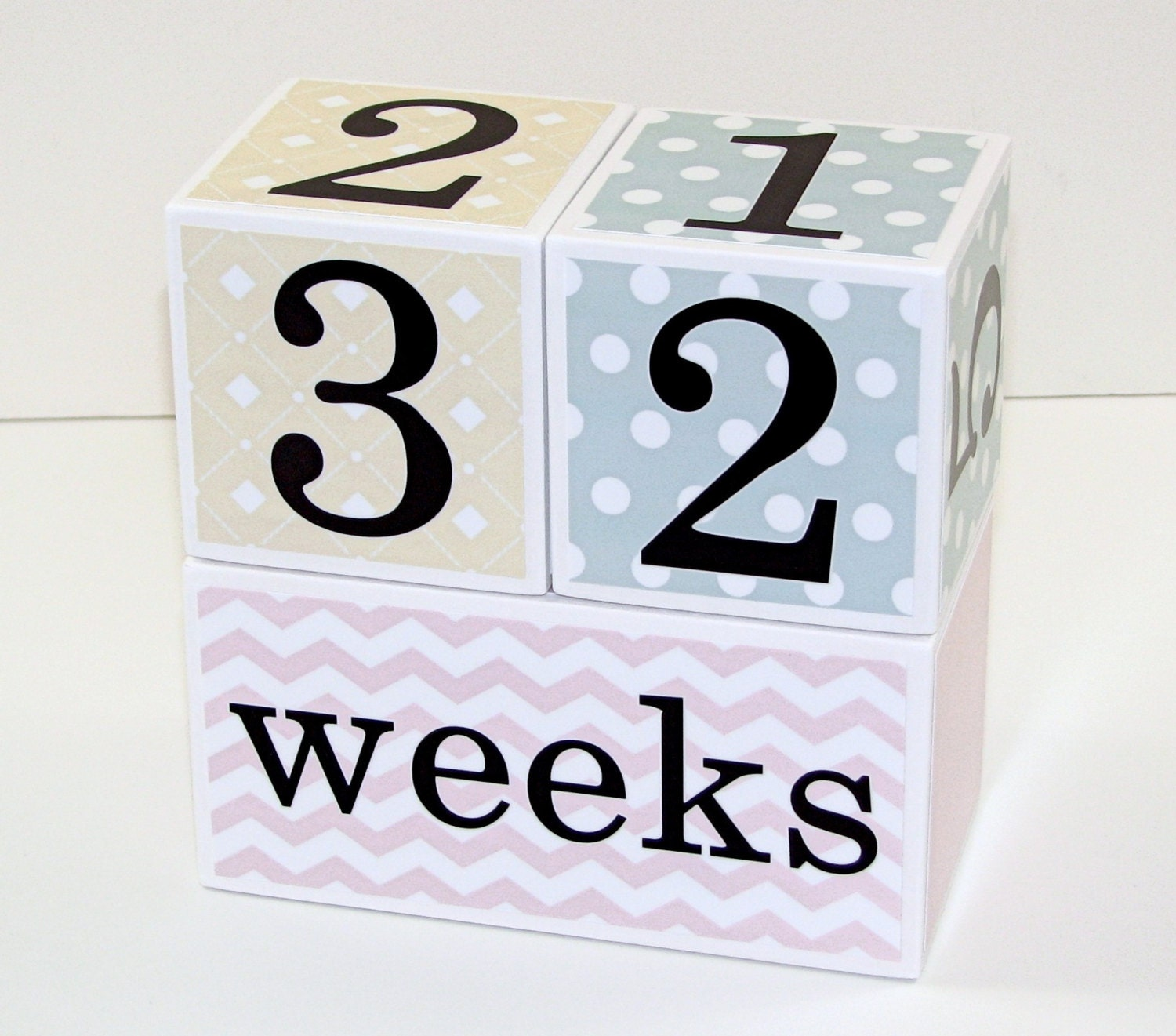 Baby Age Blocks Gift for Baby Girl Baby Month Blocks