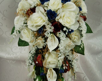 GABRIELA CREAM  Package includes 1 Bridal Bouquet 3 Bridesmaid Bouquets 1 Groom Boutonniere 3 Groomsmen 2 Fathers 2 Corsages