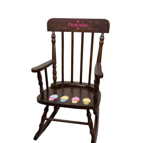 Personalized Cupcake Rocking Chair Girls Custom Rocker w cupcakes ...