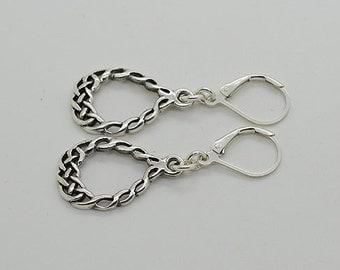 Sterling Silver Earrings Lever Back Earrings 42