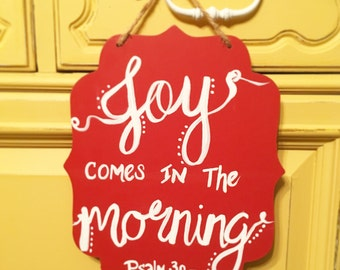 Joy Comes in The Morning Psalm 30:5 Painting
