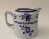 Spode Gloucester Pitcher, Blue and White