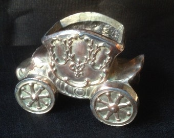 Vintage Silver Copper Plated Cinderella Coach Made in Japan