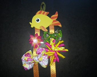 Fishy Girls Hair Bow & Barrette Holder