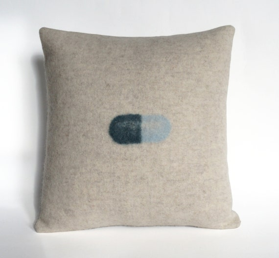 Accessory Pillow / Felted Multicolor Happy Pill