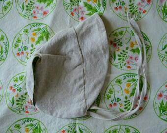 0-6 months size handmade baby bonnet, sunbonnet