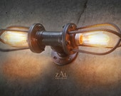 Rebar Sconce. Wall Light. Ceiling Light. Vanity Light. Industrial. Steampunk