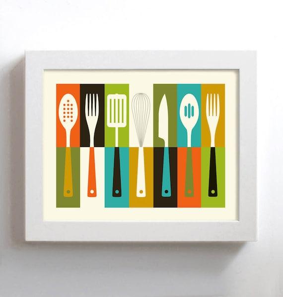 Kitchen Art Mid Century Modern Cathrineholm Retro