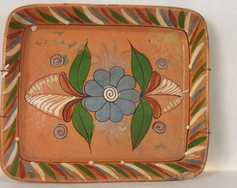 Mexican Pottery, Rectangular Serving Dish, White Bird, Housewares