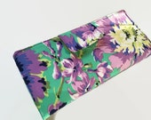 Purple Floral Womens Wallet, 38 Credit Card Holder, Loyalty Card Organizer, Money Pocket And Coin Pocket