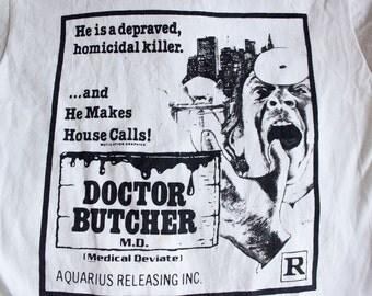 80s Doctor Butcher M.D. shirt - Vintage Zombie Holocaust t-shirt - Screen Stars horror movie tee