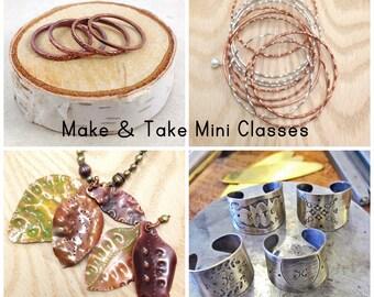 Make & Take Mini Classes Pack of 4