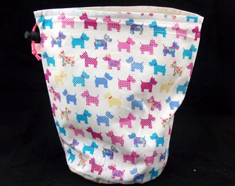 SALE R/M/L/S Project bag 418 Scotty Dogs