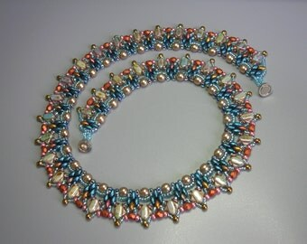 Tutorial - Sunset Necklace - Silky and O Czech beads beading tutorial