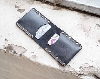 Slim Leather Wallet / Leather Billfold / Premium Italian Leather / business card holder / men's wallet