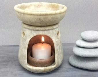 Natural Stone Oil Burner - Tea Light Lantern Incense Essential OIl Diffuser