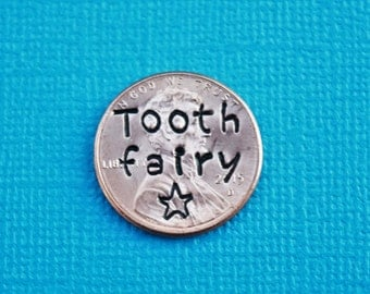 Tooth fairy pennies with star.  Tooth fairy gift.  Lost tooth gift-gift from tooth fairy-tooth fairy money