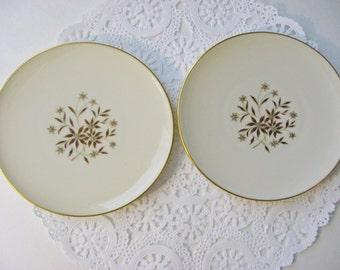 Vintage Lenox Starlight Bread Plates - Set of 2 - Midcentury - Lenox Bread Plates Lenox Dessert Plates - 1960s