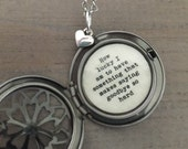 How Lucky I Am To Have Something That Makes Saying Goodbye So Hard, Friendship Locket, Necklace, Moving Away Gift