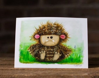 Fuffo Print  - A5 Print from Original Acrylic and Watercolour painting