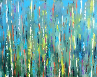 "Abstract Landscape 'Wild Wood' - acrylic painting on canvas - size 76cm x 51cm (30""x20"")"