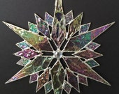 stained glass snowflake suncatcher  (design 35D)