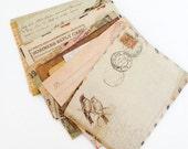 10 mini envelopes vintage style patterned scrapbooking wedding