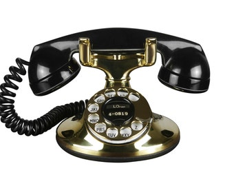 Stunning 1930s Western Electric D1 202 Brass Deco Telephone, Refurbished and Working