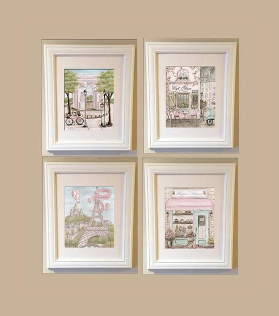 Vintage Wall Decor For Nursery : Paris decor vintage nursery wall art eiffel tower arc