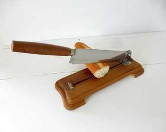 Vintage French, Bread Cutting, Guillotine
