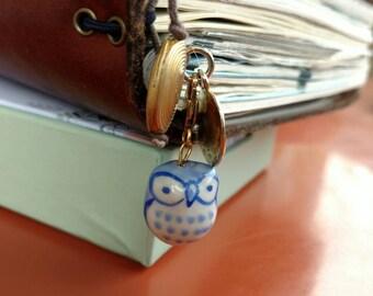 Owl Charm  for Midori Travelers Notebooks